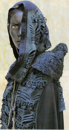 Fashion Designer Tsolmandakh Munkhuu grew up in Mongolia, moved to Paris, France in 2005. Her designs are inspired by her Mongolian, and Buddhist roots Hyeres 2010 detail