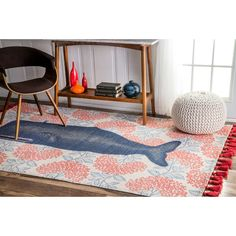 Found it at Joss & Main - Thomas Paul Blue/Red Area Rug