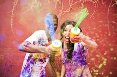 Julia and Pedzi Engagement Shoot - They threw paint all over each other! #funidea