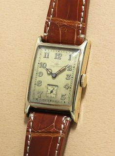 International Watch Co. 14K Rectangular Case
