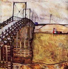 Egon Schiele - The Bridge 1913