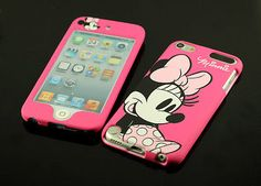 for apple iPod Touch 5 Minnie Mouse Dual Back + Front case cover pouch Ipod Touch 6 Cases, Ipod Touch 6th, Ipod Touch 5th Generation, Ipods, Cool Cases, Design Case, Veronica, Ariel, Jasmine