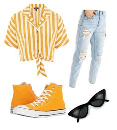 """""""Untitled #50"""" by aritrujilloca on Polyvore featuring Topshop, American Eagle Outfitters and Converse"""