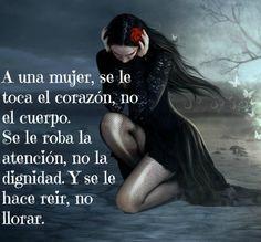 A una mujer...*