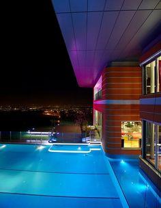 Outdoor , Get A Comfy Swimming Time With Inspiring Swimming Pool Lighting  Ideas : Amazing Modern. LichtideenSchickSchwimmbäderIm ...