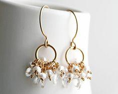 Pearl Drop Earrings Bridal Jewelry Wedding Earrings by laurastark