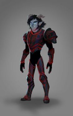 Troll Jim in Eclipse armor. Trollhunters Characters, Fantasy Characters, Teen Titans, Cartoon Network, Troll Costume, Character Art, Character Design, Hunter Anime, Cartoon Shows