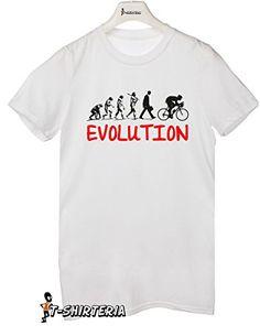 t-shirt evolution bicicleta evolution bike todas las tallas by tshirteria Camiseta para mujer blanco Talla:Large #camiseta #friki #moda #regalo