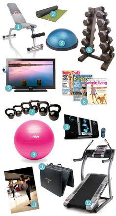 wishlist for home gym