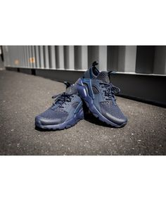 607079ee439d Nike Air Huarache Run Ultra Br Midnight Blue Trainer