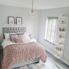 55 pretty pink bedroom ideas for your lovely daughter 11 - Wohnen - schlafzimmer Trendy Bedroom, Cozy Bedroom, Modern Bedroom, Bedroom Ideas, Contemporary Bedroom, Bedroom Designs, Bedroom Simple, Minimalist Bedroom, Bed Ideas