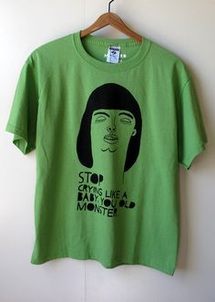 Stop Crying  50/50 Cotton/Poly Blend   Adult Medium by themusta, $12.00