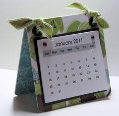 Stamp with Me: Coaster Calendar