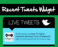 Do you want to create a recent tweets widget that displays all the tweets you received from others? It will not only increase your Social exposure, but readers will also take benefits from it...Read More...http://www.mybloggerlab.com/2012/11/recent-tweets-widget-for-blogger.html
