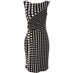 Black Spot Print Dress ($49) found on Polyvore