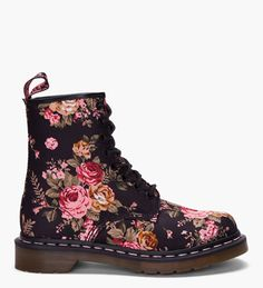 Dr. Martens Floral Print 8 eye 1460 W Boots