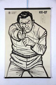 Vintage body target Robber.