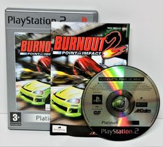 playstation 2 game burnout 2 point of impact platinum ps2 ps1 ps3 gaming