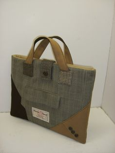 SewMuchStyle      suit coat bag - other work is gorgeous too. Available on Etsy at sensible prices....