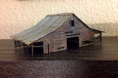 Barn for n scale railroad layout