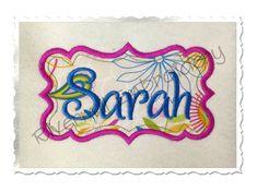 $2.95Applique Name or Monogram Frame Machine Embroidery Design (