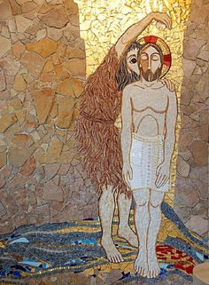Feast of The Baptism of Christ 2014 Religious Icons, Religious Art, Baptism Of Christ, Images Of Christ, Deep Art, Biblical Art, John The Baptist, Art Base, Sacred Art