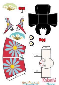 ACTIVITE - Kokeshi En papier à coller