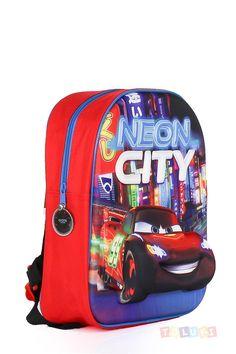 Moi, pas besoin que maman me conduise à l'école, j'ai ma propre... Cars ^^ Sac à dos Cars Flash Mc Queen Neon City  https://www.toluki.com/prod.php?id=1285 #Toluki  rentrée scolaire, fourniture et vetement D'autres modèles sont disponibles dans notre boutique en ligne