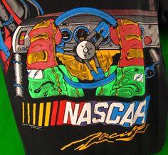 NASCAR Racing Vintage T-Shirt Large Driver View L Black Adult Tee 1996 Auto #HarleyDavidson #GraphicTee