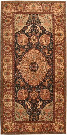 Shop the largest sleection and most comprehensive collection of antique area rugs and antique carpets by Nazmiyal Antique Rugs. Green Carpet, Carpet Colors, Persian Carpet, Persian Rug, Agra, Iranian Rugs, Iranian Art, Patterned Carpet, Modern Carpet