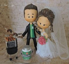 Wedding Cake Toppers, Wedding Cakes, Cute Cartoon Characters, Ideas Para Fiestas, Clay Tutorials, Winter Christmas, Clay Art, Biscuits, Crafts