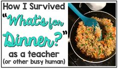 """Are you a busy teacher asking """"What's for dinner?"""" Then you're going to love the easy to implement ideas at this blog post! Real, whole foods do not have to be a dream any more. Get supper on the table with very little prep work or time. These low prep meals are sure to please the busiest teacher or mom. Whether your family is big on meat, strictly vegetarian, or any other health style - you'll find recipes and ideas here that are sure to fit your needs AND your budget! Click through for…"""