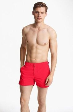Vibrant swim trunks with a slightly shorter length are designed with adjustable tabs at the waist for a perfect fit.Vibrant swim trunks with a slightly shorter length are designed with... More Details