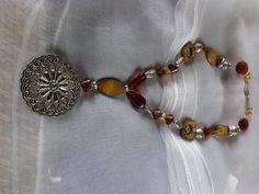 Collier long en perles ton marron : Collier par wendylafeedesbijoux