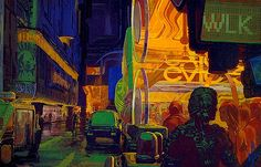 Blade Runner concept art by Syd Mead