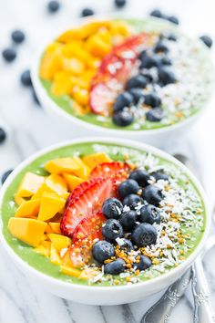 Green Smoothie Breakfast Bowls | GI 365