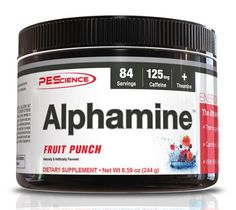 Physique Enhancing Science ALPHAMINE 252g 84 SERVINGS. Athletes know better than to chug a sugary energy drink or a fat-loaded latte. That's why they reach for Alphamine, the energy powder designed for athletes and fitness enthusiasts. The combination of caffeine and theanine gives users a nice smooth and alert energy for hours. With the added combination of choline and LCLT, Alphamine goes beyond just an energy and focus drink; It is a quick hitting thermogenic. Available in many…