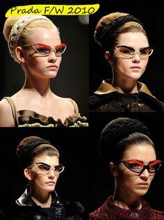 F.I.Y: Eyebrowed Glasses - Inspired by Prada F/W 2010 ~ Ajurette Magablog