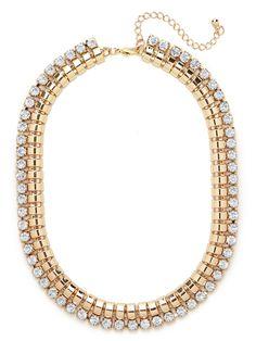 BaubleBar x Courtney Kerr Gold Spiral Crystal Collar