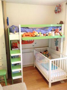 1000 images about half hoogslaper maken on pinterest mezzanine met and loft beds - Loft bed met opbergruimte ...