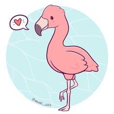 "3,697 curtidas, 25 comentários - Naomi Lord (@naomi_lord) no Instagram: ""Flamingos seem like the sassiest birds  Can confirm birds have weird legs  • #flamingo…"""