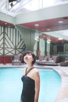 Le monde de Tokyobanhbao: maillot de bain noir la redoute