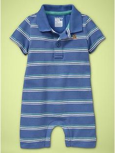 Cute...love these collared/polo rompers for the boy!