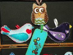 Felt crafts as ornaments