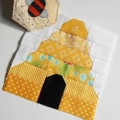 Block 134 - This bee hive block will be featured in The Patchsmith's Sampler book due out in the New Year.