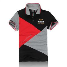 polo ralph lauren outlet Aeronautica Militare Italian Air Force Short Sleeve Men\u0026#39;s Polo Shirt Black Red