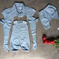 Sewing Baby Clothes, Baby Clothes Patterns, Clothing Patterns, Diy Clothes, Sewing Pants, Denim Fashion, Kids Fashion, Fashion Story, Fashion Fashion