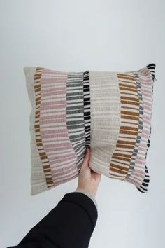 ----- The piece is unique, and will just be produced once in a life time. The pillowcases are handwoven with love in Belgium, and finished. Couch Pillows, Cushions, Throw Pillows, Bauhaus Textiles, Weaving Designs, Sewing Projects, Hand Weaving, Crochet, Quilts