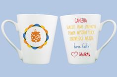 Gift a personalized Ganesha Mug to yourself and all your loved ones. Make this Ganesha Chaturthi a special occasion by gifting Ganesha Blessings in these Custom, Energy Charged Mugs that are designed with deepest of faith and devotion. This design is inspired by the Energy chakras of the body and the symbol of Ganesha in the energy mandalaamplifies the overall essenceof the mug. This is a very powerful gift as it embodies the Divinity in the energy spirits of Being. These are custom…