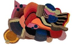 Jonathan Josefsson Abstract Rugs Make for Artistic Interior Decor #collage #art trendhunter.com